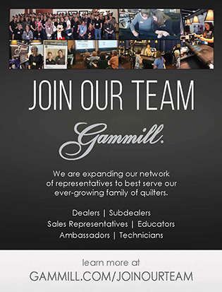 Gammill advertising job positions and dealer opportunities