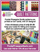 Purple Pineapple Studios advertising Quilt Patterns